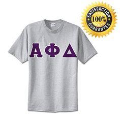 #AlphaPhiDelta Fraternity Standard Lettered T-Shirt   Something Greek   #fraternitymerchandise #standards #somethinggreek