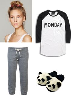 """""""the pajama look"""" by renee-chernoff ❤ liked on Polyvore"""