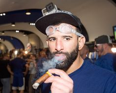 bautista_celebrate Toronto Blue Jays, Captain Hat, Celebrities, Boys, Sports, Twitter, Times, Fitness, Baby Boys