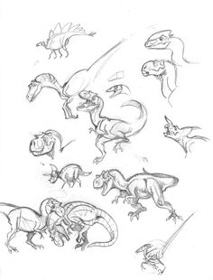Dinosaurs sketch by marciolcastro on DeviantArt