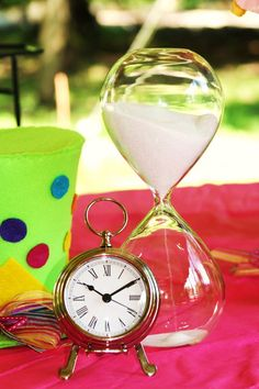 Don't be late Alice in Wonderland Unbirthday Party Decor
