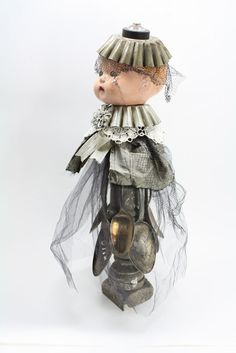 Found Object Art Doll Assemblage - Josephine Violet Played a Mean Set of Spoons