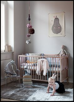 A calming neutral palette for the little queens room.