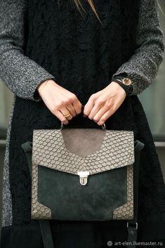 Leather bag | Купить Портфель из кожи рыбы в интернет магазине на Ярмарке Мастеров