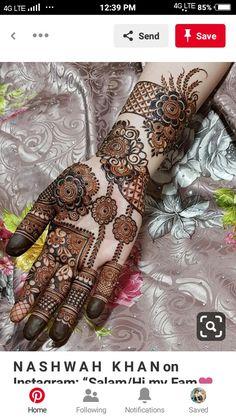 Circle Mehndi Designs, Palm Mehndi Design, Henna Designs Feet, Mehndi Design Pictures, Dulhan Mehndi Designs, Mehndi Images, Mehendi, Henna Patterns, Hair Hacks