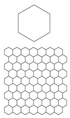Free downloadable worksheet at http://www.connectingthreads.com/patterns/English_Paper_Piecing_Hexagons_Pattern__D991444.html