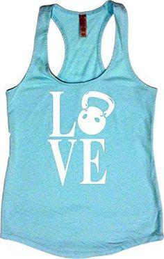 "Women's Workout Fitness Racerback Tank - ""Kettlebell Love"""