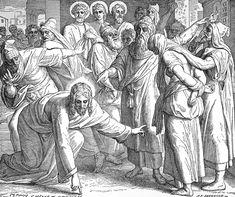 Bilder der Bibel - Die Ehebrecherin vor Christo - Julius Schnorr von Carolsfeld