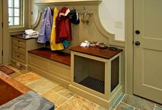 Small unique design mudroom lockers with bench plans
