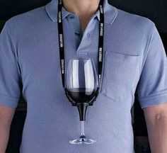 Like we don't have enough shite to hang around our necks...  Wine Glass Carrier...actually this one is quite useful for those drunken parties.