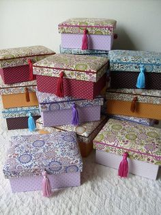 decorative boxes - useful for storing off-season clothes/bags/accessories for the closet