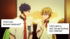 I'm actually lactose intolerant and Nagisa is ME every time I eat ice cream.
