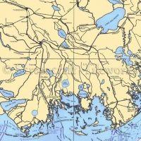 Louisiana - Cocodrie / Nautical Chart Decor