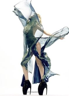 Armadillo heels by Alexander McQueen. Lady Gaga wore these in her Bad Romance music video. There are only 21 pairs in existence, and they cost $10,000!
