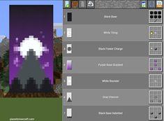 Minecraft Banner Crafting, Cool Banner Designs Minecraft, Minecraft Decorations, Minecraft Crafts, Minecraft House Tutorials, Minecraft House Designs, Minecraft Tutorial, Minecraft Creations, Minecraft Wolf