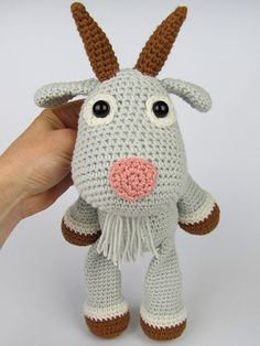 Goat Lisa amigurumi crochet pattern by DioneDesign