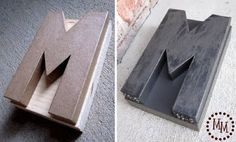 Monogram DIY letterpress stamp - thanks to http://mmscrapshoppe.blogspot.com