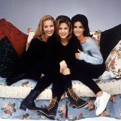 phoebe, rachel, monica. <3    Friends 90's fashion