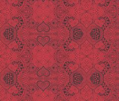 A Hearty Doodle fabric by katiame on Spoonflower - custom fabric