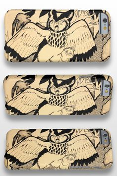 """Owl's Nest"" illustrated black and white bird iPhone 6 Case #products #art #illustration"