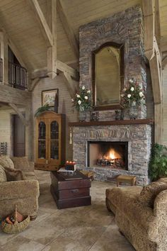 Stone Fireplaces Mountain Living And Fireplaces On Pinterest