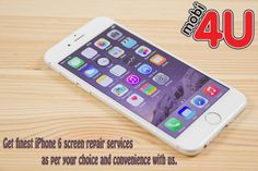 Get finest iPhone 6 screen repair services as per your choice and convenience with us. For any query, talk to our 24 hours available representatives at 01204520520.
