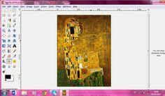 2-Captura de pantalla durante el procedimiento. Usamos la herramienta Gimp como se puede ver para la edición de la imagen. A través de el efecto clonado realizamos todo el ejercicio.
