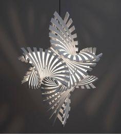 3D Printed by Designer Bathsheba Grossman - 3D Printing Lamps, Ceiling Lights, Design Lamps, Pendant Lights - iD Lights