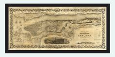 Old Map of New York 1897 Manhattan - product image