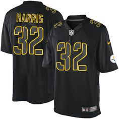 Franco Harris Men s Elite Black Jersey  Nike NFL Pittsburgh Steelers Impact   32 Justin Houston c662b7d9d