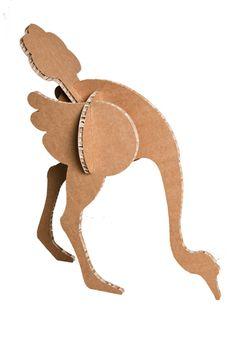 A4Adesign - mobili, complementi, oggetti e decorazioni in cartone ostrich