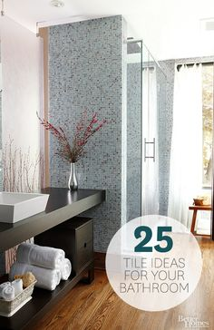 We have the best bathroom tile ideas for your next remodel! Click through here: http://www.bhg.com/bathroom/remodeling/makeover/bathroom-makeovers-starring-tile/?socsrc=bhpgin060814bathroomtile