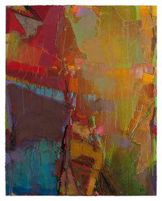 """Brian Rutenberg """"Pale Silent 7"""" 2009; 48"""" x 38"""""""