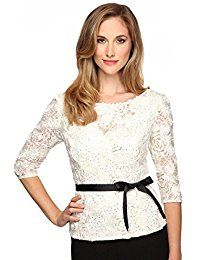 New Alex Evenings Women's Three-quarter sleeve rosette lace blouse online. Find the perfect Ivanka Trump Tops-Tees from top store. Sku XOTC11738IHXY45084