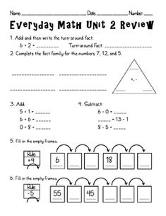 Everyday Math - Second Grade Unit 2 ReviewTeacher can use this review as a teaching review or as a practice test. All math concepts that are as...