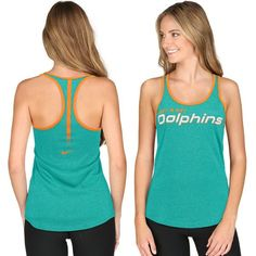 Miami Dolphins Nike Women's Core Fan Marled Tank Top - Aqua - $33.99