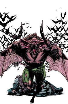 A face from a crime lord's past comes back to haunt him while the flying beast of Gotham City is unleashed in Frank Tieri's Villains Month stories starring Batman rogues Penguin and Man-Bat. Comic Book Artists, Comic Books Art, Comic Art, Gotham Villains, Comic Villains, Marvel Dc, Arte Dc Comics, Character Drawing, Comic Character