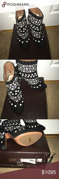 Alia Boot Black and White Bootie Alaia Shoes Ankle Boots & Booties