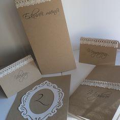 Kraft és csipke - esküvői meghívó, névtábla, menü, Esküvő, Naptár, képeslap, album, Meghívó, ültetőkártya, köszönőajándék, Képeslap, levélpapír, Papírművészet, Meska