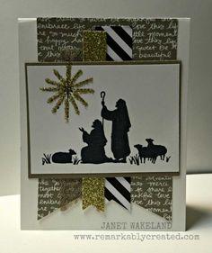 Afbeeldingsresultaat voor card making ideas christmas stampin up Christmas Paper Crafts, Stampin Up Christmas, Christmas Cards To Make, Xmas Cards, Holiday Cards, Christmas 2015, Christmas Ideas, Beautiful Christmas Cards, Christian Cards