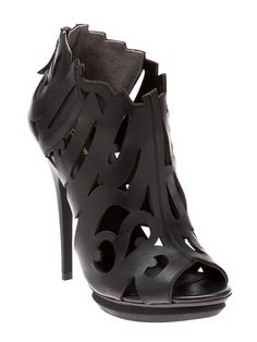 UNITED NUDE Cutout graffiti sandal in black $385