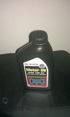Our item, TOYOTA 5W-30 MOTOR OIL, is available.  Click image to buy. ($33.99)