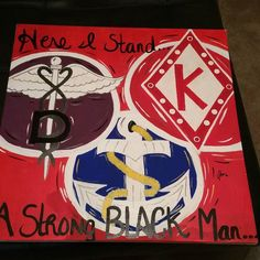 "I painted this for @dr_novokaine...""The Trifecta of a Black man""."