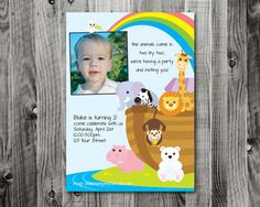 Custom Noah's Ark Printable Party Invitation by lifewelllived, $18.00