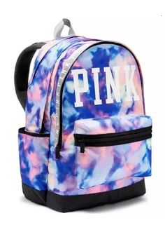 New Victoria's Secret VS Pink Tie Dye Campus Backpack Victoria Secret Rucksack, Mochila Victoria Secret, Rosa Victoria Secret, Victoria Secret Parfum, Victoria Secrets, Mochila Jansport, Mochila Adidas, Cute Backpacks For School, Cute Mini Backpacks