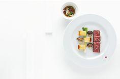 Noix de côte de bœuf de Kobe rôtie, fondue japonaise (shabu-shabu) par Alain Ducasse