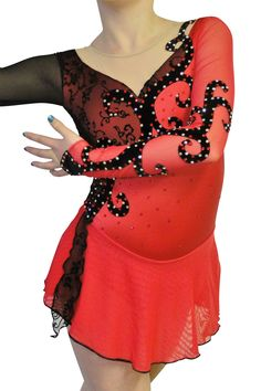 Nice Jerrys Ice/roller/figure/baton Twirling Skating Dress Adult Medium Relieving Heat And Thirst. Winter Sports