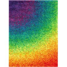 """Loloi Area Rug, Barcelona Shag BS01 Rainbow 7'7"""" x 10'5"""" (1,180 CAD) ❤ liked on Polyvore featuring home, rugs, backgrounds, rainbow, other, effect, filler, borders, picture frame and no color"""