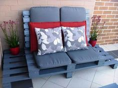 Pallet Outdoor Sofa white Table for Lounge