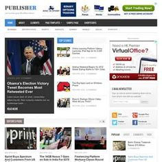 Publisher Magazines Community Blogs WordPress Theme